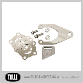 Caliper bracket kit for sprocket brake - 46 Teeth