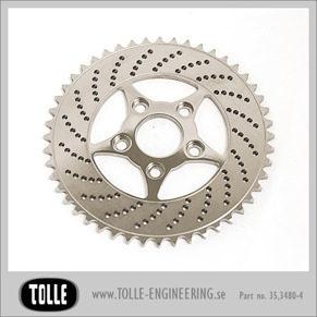 Sprocket brake rotor 48 teeth 4 piston - Drevbromsskiva holed 48 teeth, 4-kolv