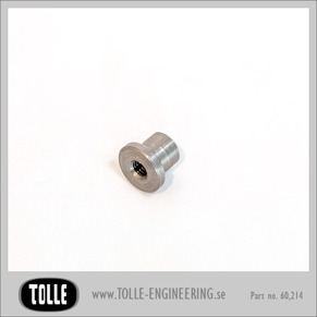 Tophat Blind Threaded 1/4 UNC Steel - Tophat Blind Threaded