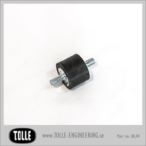 Rubber mount with spring - Rubber mount with spring