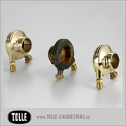 K-TECH DELUXE external throttle housing. Brass