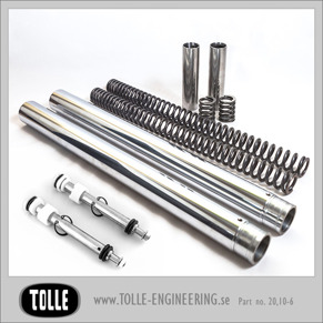 Tolle fork tubes with dampers & progressive springs/Showa - Tolle fork tubes Showa