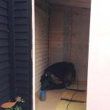 Mulltoa blir WC efter att föreningen installerat vatten & avlopp.
