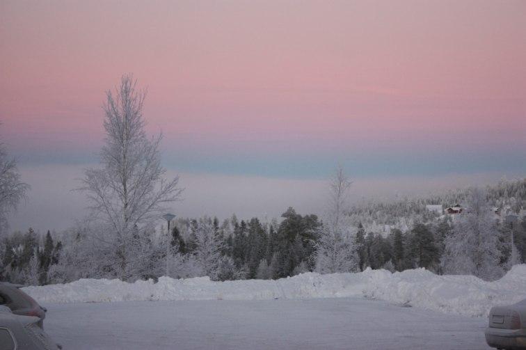 Härlig vinterbild från stöten