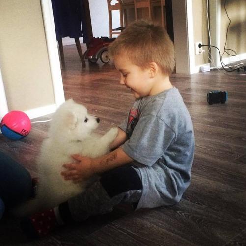 barnbarnet Elliot med Lakisha detta är Kärlek