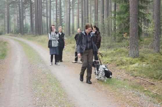 En del av spårhundsgruppen.