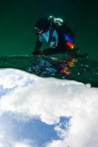 """Här är jag med som """"modell"""" i SM i undervattensfoto.                         Fotograf: Anders Nyberg."""