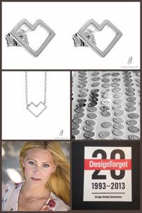 """Annika Gustavsson, designer bakom DesignTorgets jubileumsmycke """"Happy Heart""""."""
