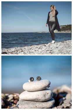 På denna strand, Fridhem, har jag hittat mina fossiler.