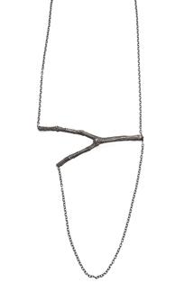 Murgröna, halsband - Halsband i oxiderat silver