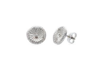 Fossil large, örhängen silver