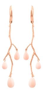 Wildrose i rosa guld och opal