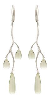 Örhänge Wildrose i silver med Prasolit