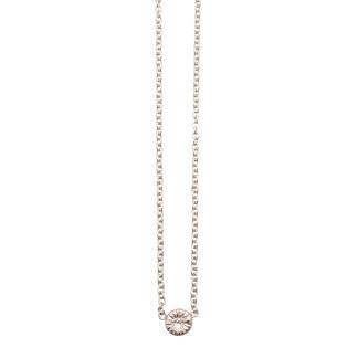Fossil halsband silver, medium -
