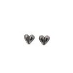 Heart of Gotland örhänge oxiderat silver