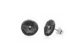 Fossil - örhängen i oxiderat silver