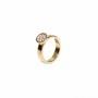 Ring i 18k rött guld med briljantslipade diamanter, pavéfattade. 1 st 0,05ct, 7st 0,03 ct. TW/vs. Pris i detta utförande/storlek 16500 sek