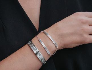 Armbandet VISBY - Världsarvs armbandet VISBY med oxiderad himmel