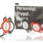 Cykel-ledlampor, tryckt sticker