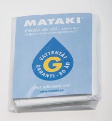 Regnponcho med papperskort Mataki