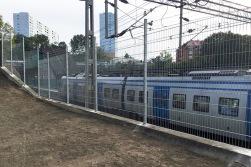 staket vid järnväg