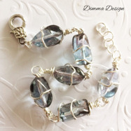 Wire wrap light blue