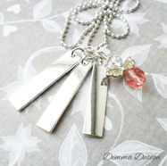 Halsband stansat 3 tags & ängel