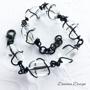 Wire wrap svart tråd