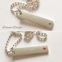 Halsband 1 tag & Swarovskikristall - Swarovski mörklila