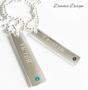 Halsband 2 tags & Swarovskikristaller - Halsband 2 tags & Swarovskikristaller