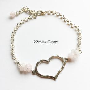 Armband tunn kedja & hjärta 2 - Armband tunn kedja & hjärta 1