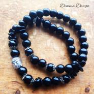 Elastiska armband svart/Buddha