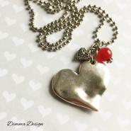 Halsband antikt hjärta