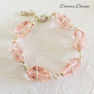 Wire wrap rosa - Wire wrap rosa