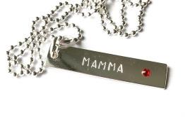 MAMMA 1 bricka & Swarovski