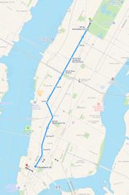 Resväg till Ground Zero, med T-bana