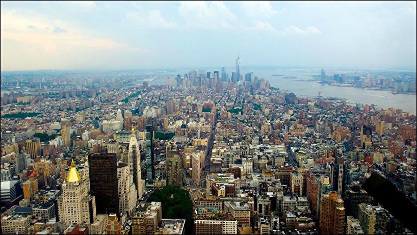 Vy söderut från Empire State Building, 2013