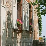 Den vackra gamla fasaden