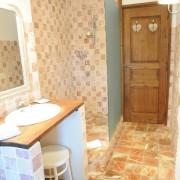 Ett av badrummen i bastiden