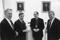 Prof. Åke Andrén, prof. Stig Strömholm,biskop  Jonas Jonsson och Lars Engkvist, ordf Statens Kulturråd.
