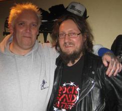 Tim V (Sham 69) & dissen efter spelningen i Parkhallen Rocksyndikatet 2/4-2011