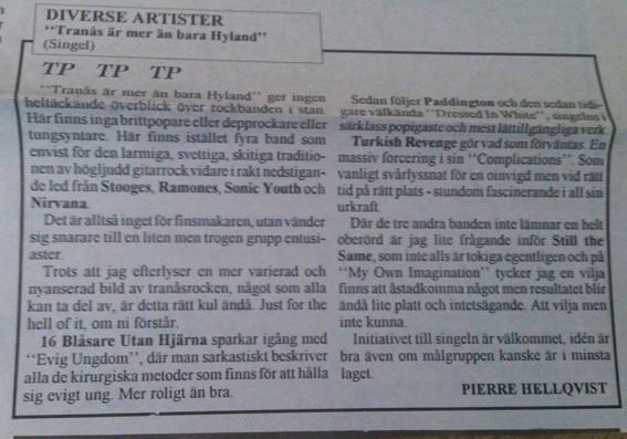 Tranås-Posten recenserar Hylandsingeln.