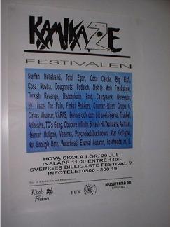 Hovafestivalen -95 där Turkish Revenge lirade.