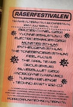 Räserfestivalen-95 utspelades på Sobelhuset.