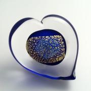 Hjärta Blue Gold