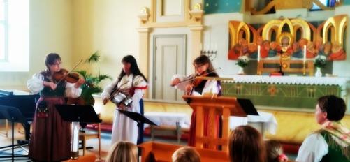 Stämningsfull musik i Färgelanda kyrka