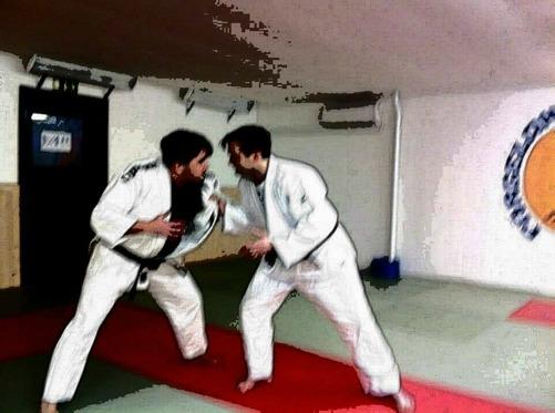 Jag och min bror Sigge i en fightingsposition