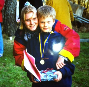 Rose-Marie tillsammans med Johan Fredriksson