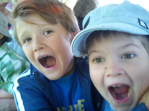 Min son Eric till vänster och Karl till höger i bild.
