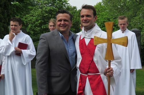 Jag tillsammans med min bror Sigge i samband med min sons konfirmation. Foto: Evelina Kvist
